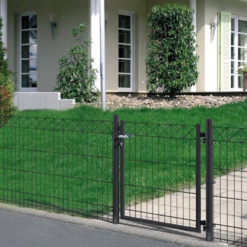 Moderner Gartenzaun aus Metall leicht gemacht