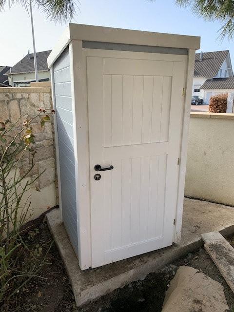 Weka Gartenhaus / Gartenschrank 367 in grau Kundenstimme Multhaupt (außen)