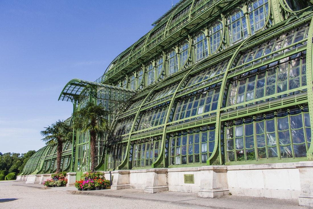 Das Palmenhaus im Schlosspark Schönbrunn gehört zu den ältesten, größten und imposantesten Gewächshäusern in Europa