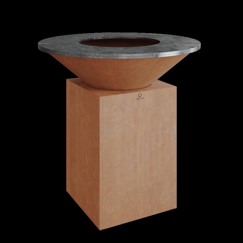 Die klassische Ofyr Grillplatte aus Cortenstahl