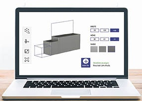 3D-Konfigurator für Pflankastensystem DaVinci