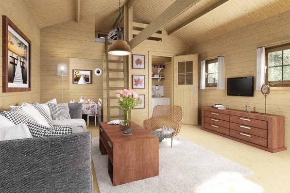 Gartenhaus in der Deluxe-Variante: Ein Weekendhaus mit Schlafmöglichkeiten