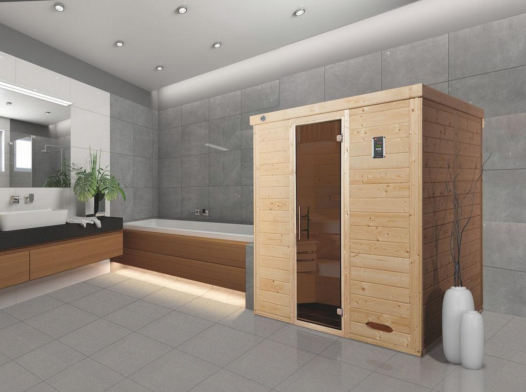 Eine Elementsauna aus Massivholz: Weka Sauna Kemi