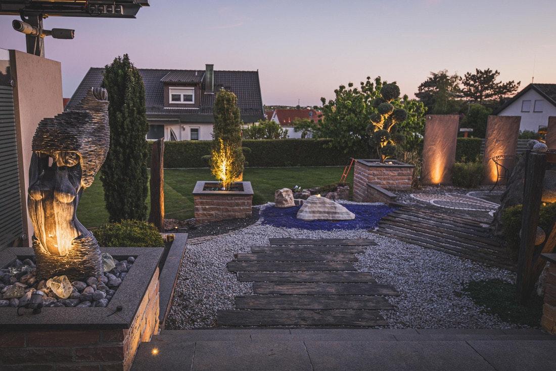 Terrasse mit Spotlights