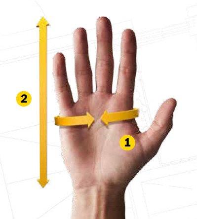 Hand Schaubild