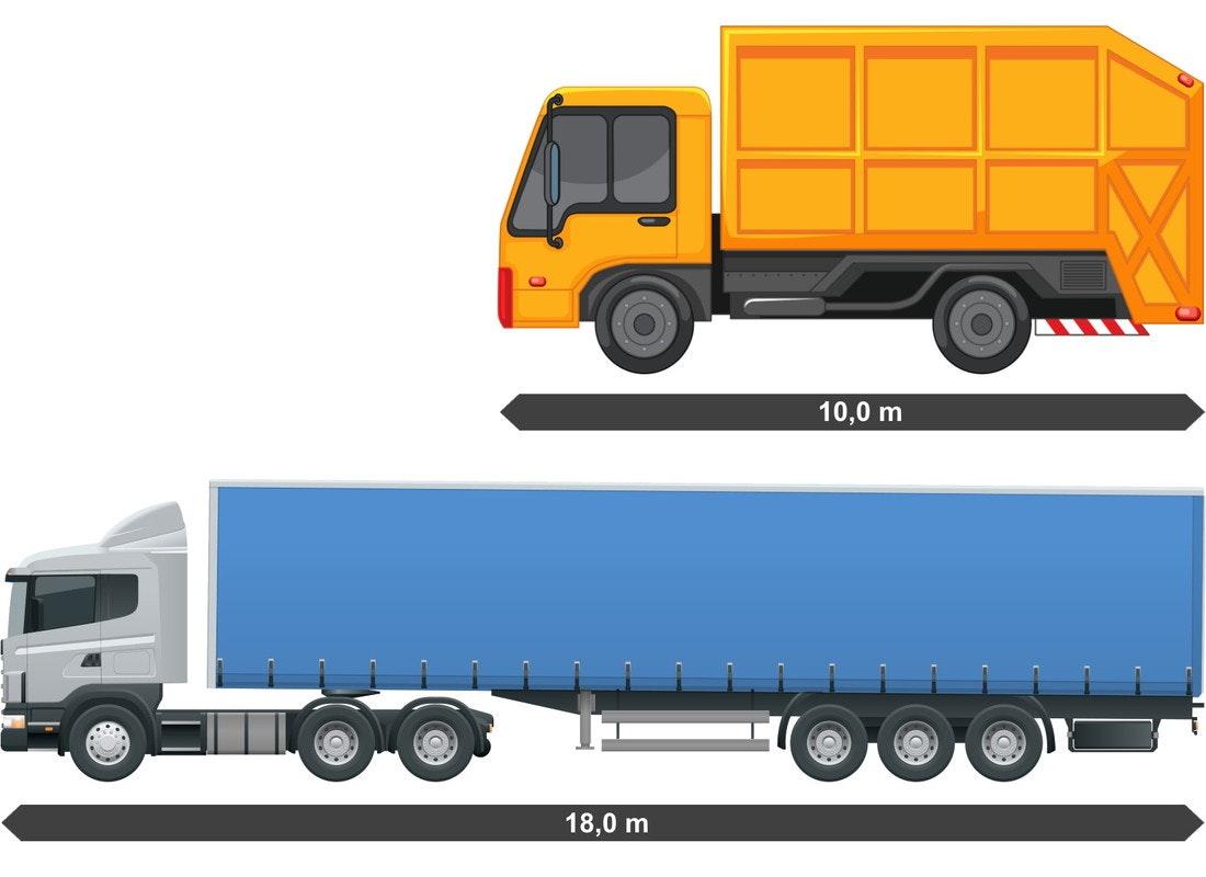 Groessenvergleich 40t LKW