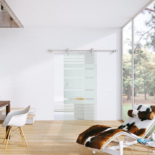 Offene und frische Wohnräume mit Ganzglastüren