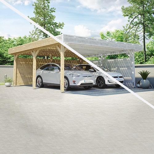 Jetzt neu bei uns: Skan Holz Solarcarports!