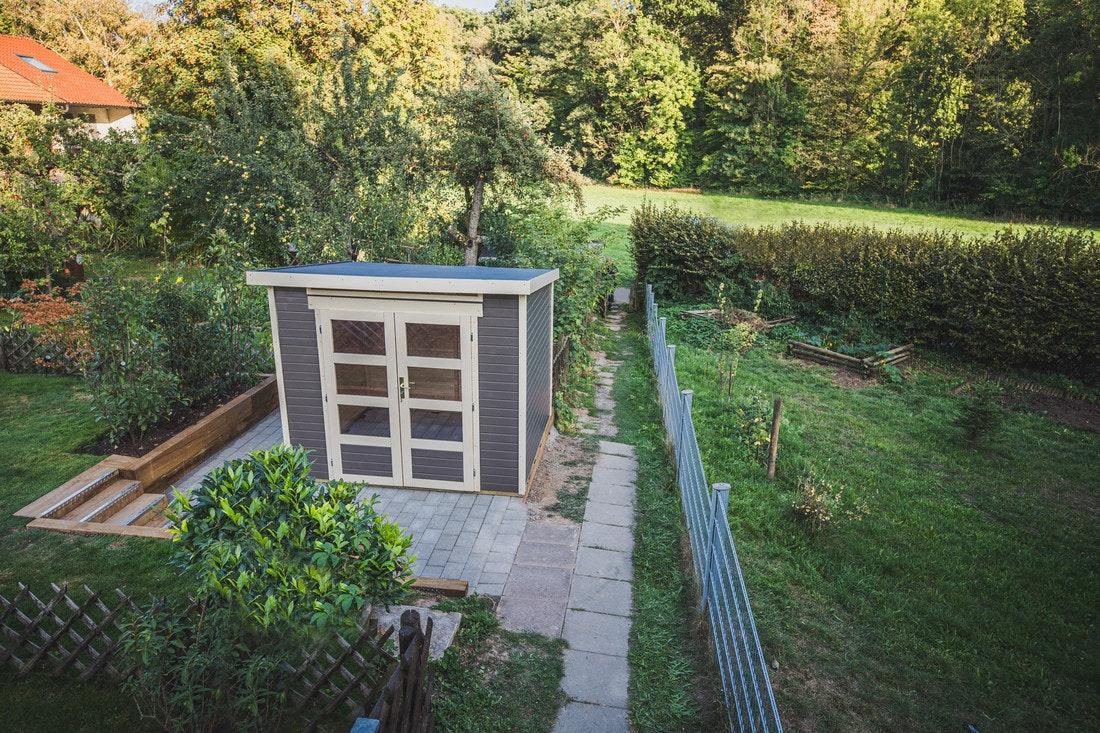 Das fertige Gartenhaus Venlo von Wolff Finnhaus