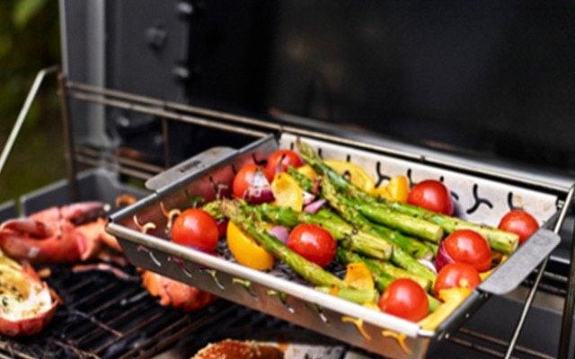 Gemüse auf Grillrost
