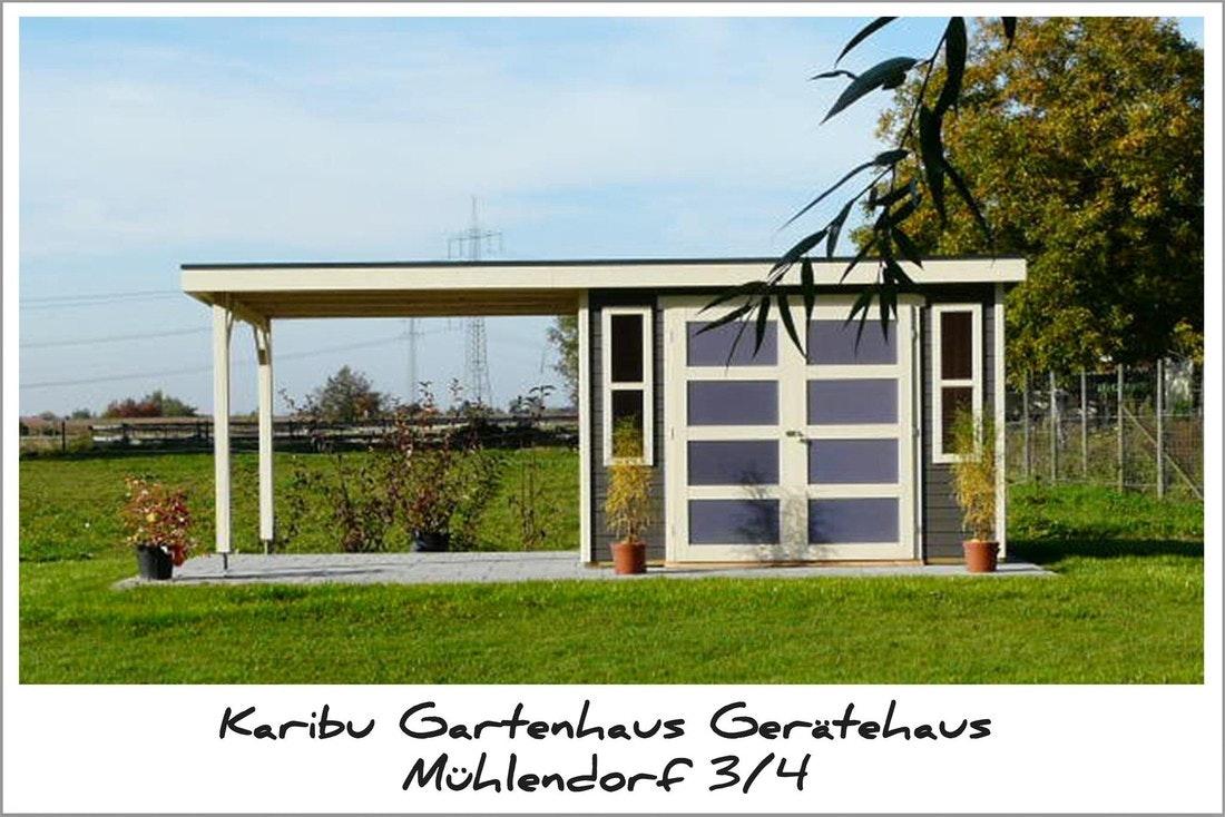 Karibu Gartenhaus Gerätehaus Mühlendorf 3/4