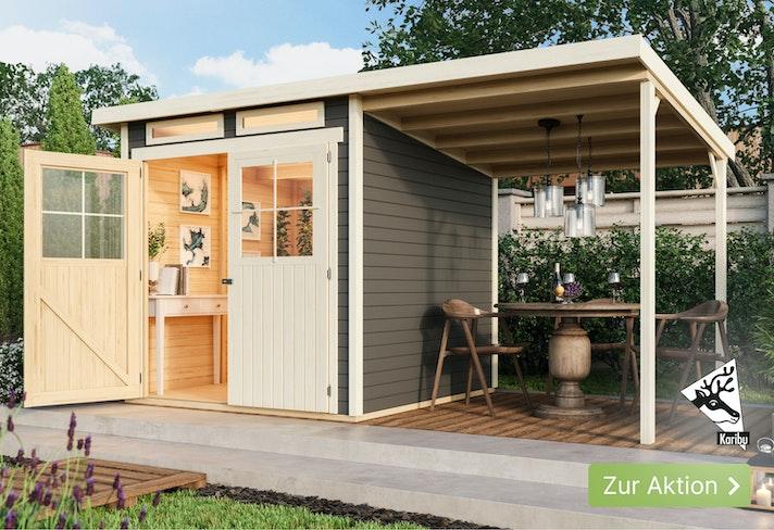 Karibu-Aktion: 10% Rabatt auf alle Gartenhäuser!