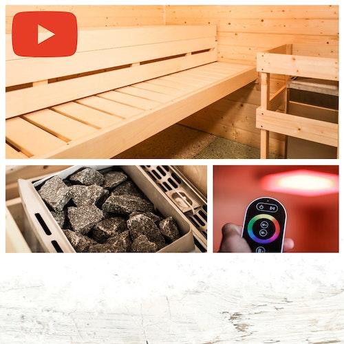 Videoanleitung: Sauna aufbauen!