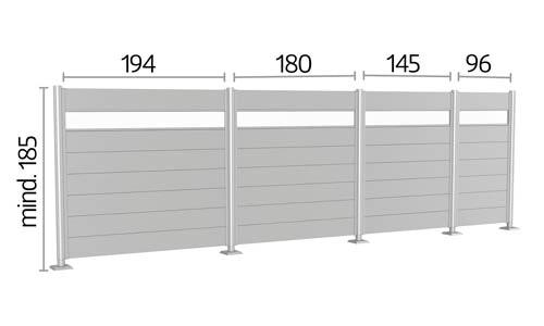 Sichtschutzzaun Biohort Maße Höhe 185