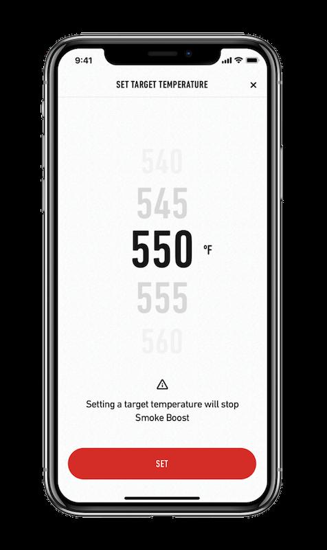 Zieltemperatur einstellen mit der Weber Connect App