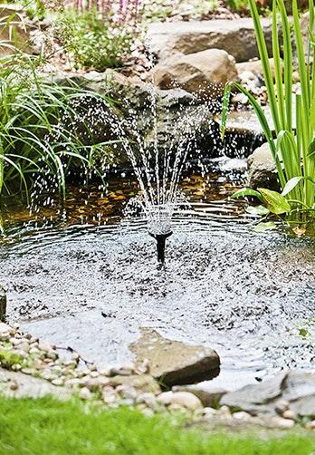 Pumpe für Wasserspiel, Wasserfall und Fontäne finden