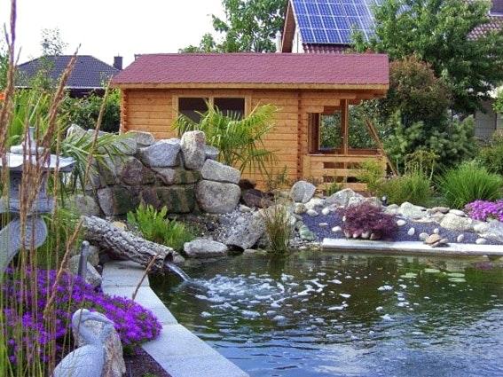 Gartenhaus für Teichtechnik