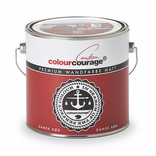 colourcourage® Premium Wandfarbe matt Dansk Rød