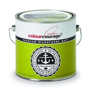 colourcourage® Premium Wandfarbe matt Moutarde Verte