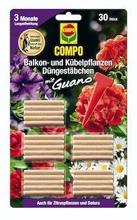 COMPO Balkon- und Kübelpflanzen Düngestäbchen mit GUANO