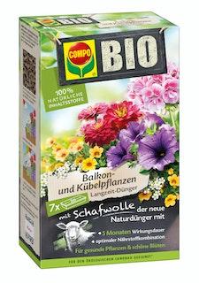COMPO BIO Balkon- und Kübelpflanzen Langzeit-Dünger mit Schafwolle (750 g)