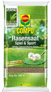 COMPO Rasensaat Spiel und Sport Aktion 4 kg für 200 m²