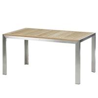 Diamond Garden Tisch SIENA 150 x 90 cm Edelstahl / Premium Teak