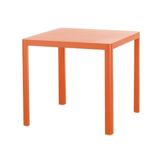Diamond Garden Tisch KINGSTON 80 x 80 cm Aluminium neonorange
