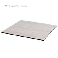 Diamond Garden DiGa Compact Tischplatte mit Fase 68 x 68 cm HPL Eiche sägerau