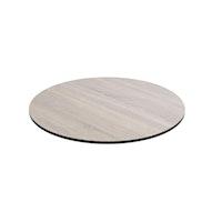 Diamond Garden DiGa Compact Tischplatte mit Fase Ø 68 cm HPL Eiche sägerau