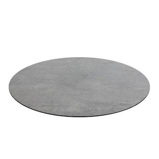 Diamond Garden DiGa Compact Tischplatte mit Fase Ø 68 cm HPL Beton dunkel