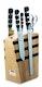 F. DICK Design Messerblock 1905 aus Holz mit Magnetleiste 5-teilig