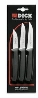 F. DICK Küchenmesser-Set ProDynamic 3-teilig schwarz