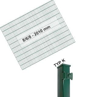 Kraus DS 8/6/8 - 2010 mm grün - Pfosten K - Komplettset 2 - 50 Meter