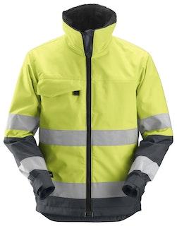 Snickers Workwear 1138 Core High-Vis isolierende Arbeitsjacke , Klasse 3 - signalgelb-stahlgrau Gr. XS