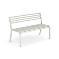 EMU 2-Sitzer Bank SEGNO, Stahl weiß