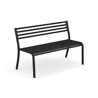 EMU 2-Sitzer Bank SEGNO, Stahl schwarz