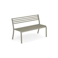 EMU 2-Sitzer Bank SEGNO, Stahl grau-grün