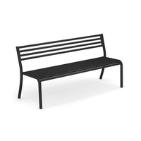 EMU 3-Sitzer Bank SEGNO, Stahl schwarz