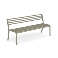 EMU 3-Sitzer Bank SEGNO, Stahl grau-grün