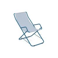 EMU Liegestuhl BAHAMA Stahl blau / Kunststoffgewebe hellblau