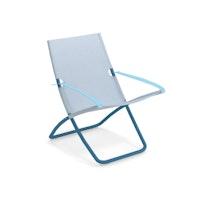 EMU Liegestuhl SNOOZE Stahl blau / Kunststoffgewebe hellblau