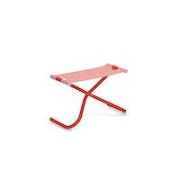 EMU Fußhocker SNOOZE Stahl scharlachrot / Kunststoffgewebe rot