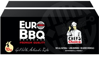 EuroBBQ Holzkohlebriketts Schwarz 10kg