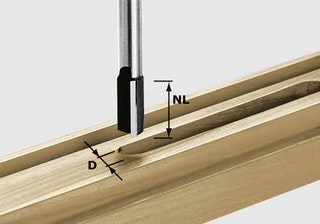 Festool Nutfräser HW Schaft 8 mm HW S8 D13/20