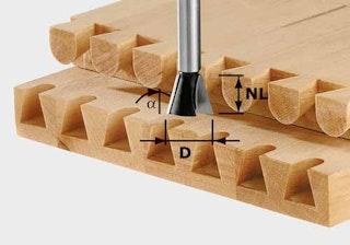 Festool Grat-/Zinkenfräser HW Schaft 8 mm HW S8 D20/26/10°