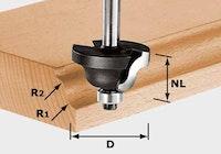 Festool Doppelradienfräser HW Schaft 8 mm HW S8 D38,1/R6,35/R6,35