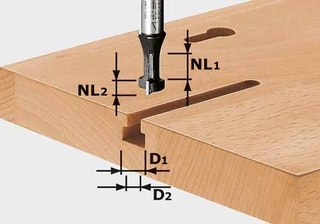 Festool T-Nutfräser HW Schaft 8 mm HW S8 D10,5/NL13