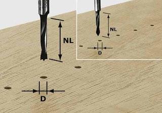 Festool Dübelbohrer HW Schaft 8 mm HW S8 D5/30 Z