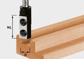 Festool Wendeplatten-Nutfräser HW Schaft 8 mm HW D18/30 S8